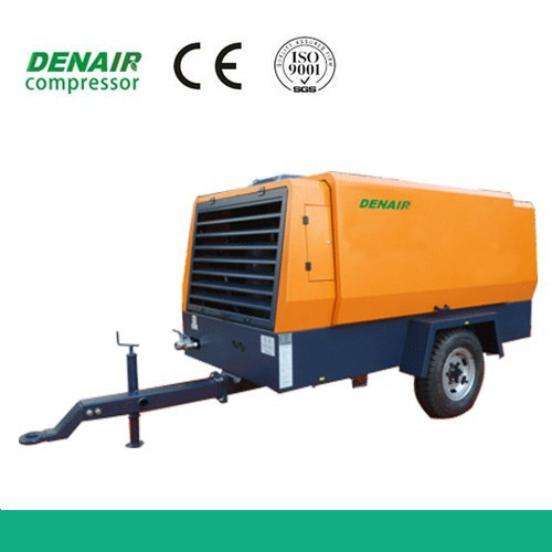9.0m3/7bar heavy duty portable air compressor for mining
