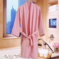 wholesale customed printed made quick dry Microfiber suede bathrobe