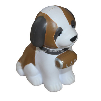 Dog Shaped PU Anti Stress Ball Stress Reliever Toy in Dog shape