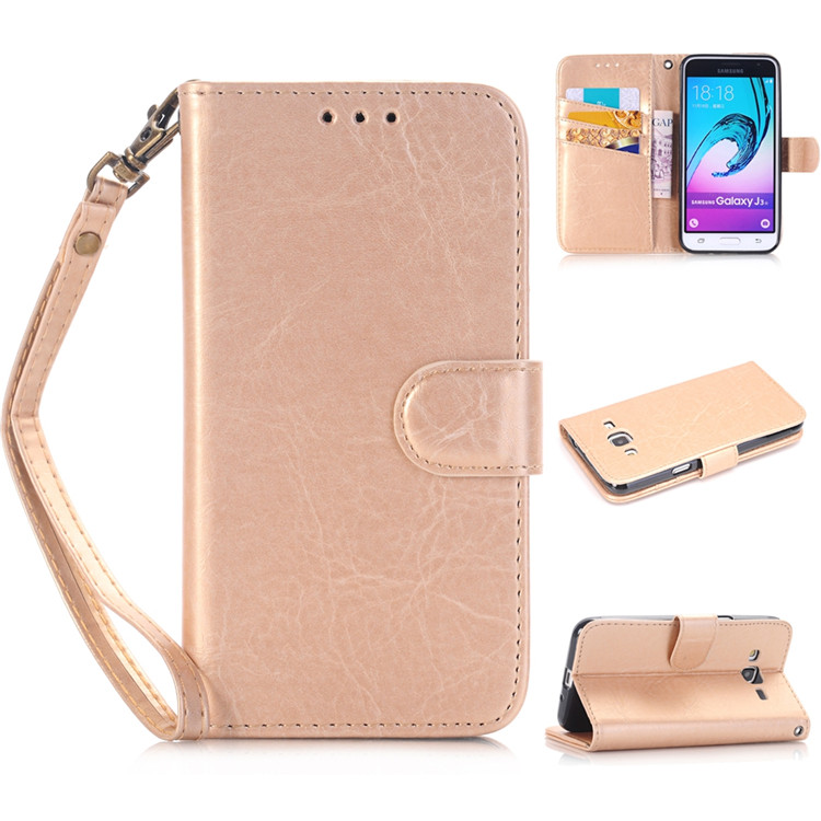 PU Leather Magnetic Wallet Flip Case Cover for iPhone 6 6S with Card Holder Money Pocket Wrist Strap