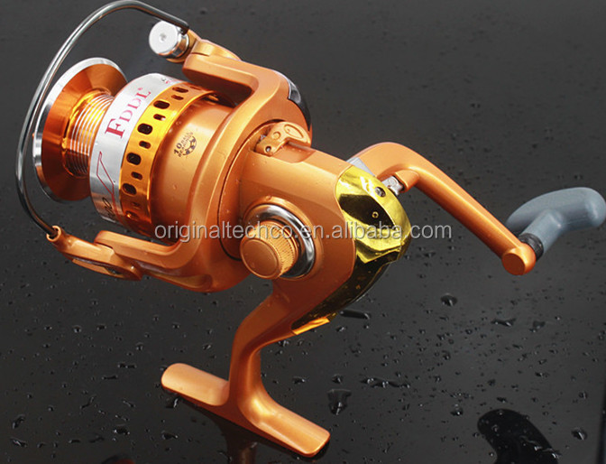 2017 New Coming HotSell 10BB Rubber Handle Spinning Fishing Reel Gold