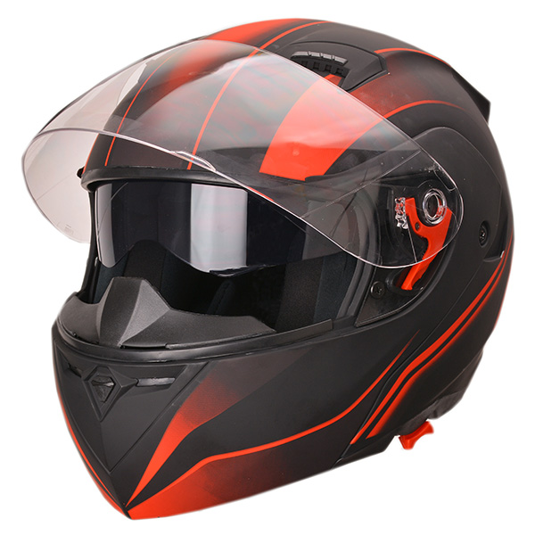 Chinese made flip up modular motorcycle helmet with dual visors