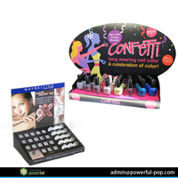 retail lipstick pop up PDQ cardboard cosmetic counter top displays
