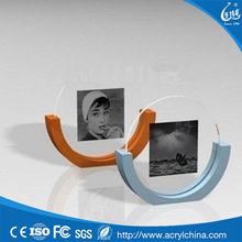 Fashionable boat shape sliding 2x2 picture frame
