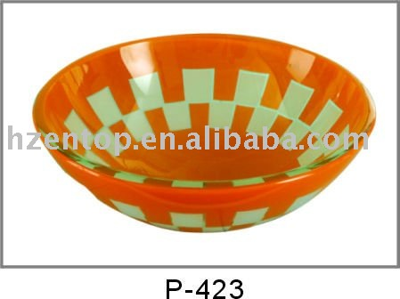 elegant glass vessel sink(P-423)