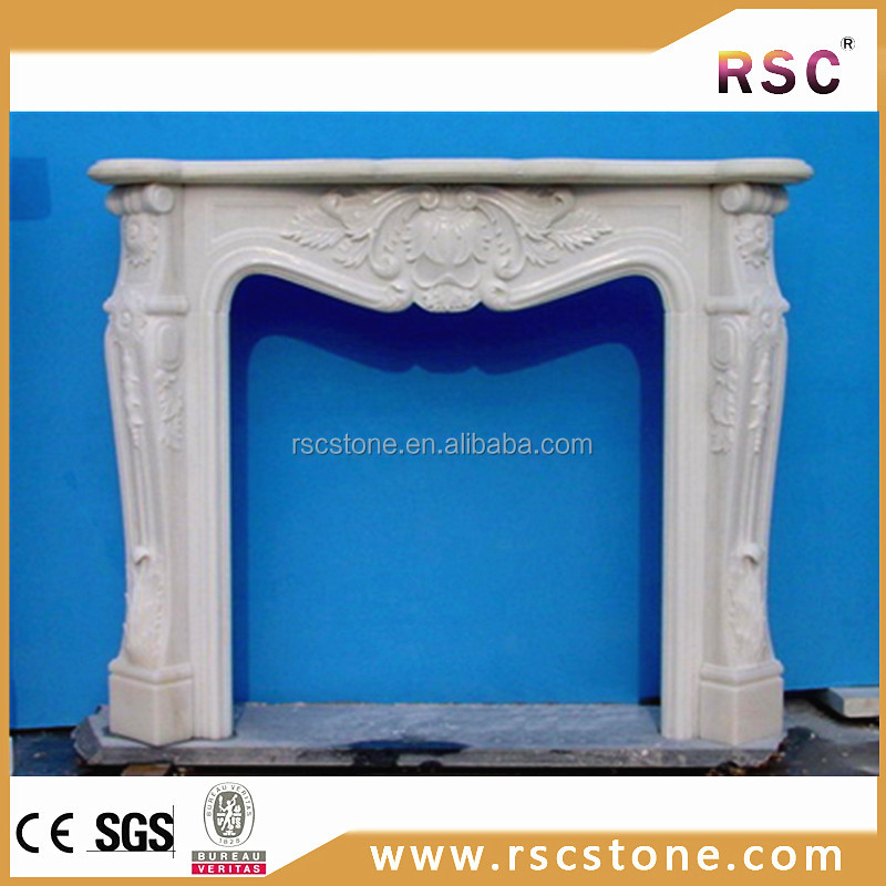 Cheap marble fireplace door parts