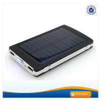 AWC941 Aluminuim Alloy LED Torch 18650 Dual USB Port Solar portable power station charger giant power bank