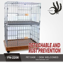 High Quality Foldable Heavy Duty Stainless Steel Pet Cage Dog Carriers With Wheels