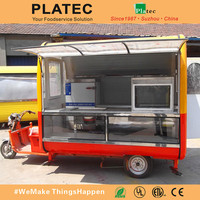 China Made Tricycle Food Cart for sale/Tricycle Mobile Snack Car for fast food