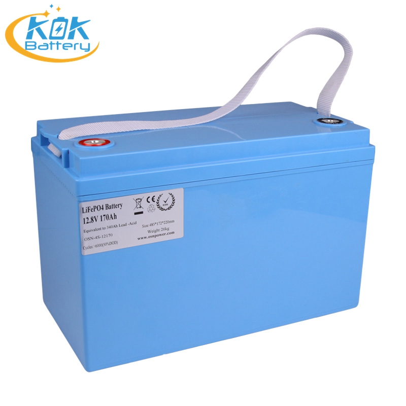 KOK POWER Off Grid 12V Lithium ion Battery 170Ah Solar Batteries Marine Power Supply(AGM,Gel, Lead-Acid Replacement Batteries)