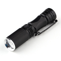 LED Torch Flashlight 600 Lumen Zoomable Focus 7W Q5 Mini Tactical Waterproof Flashlight LED