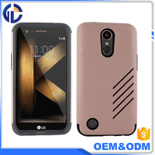 Wholesale Shockproof Armor Case Dual Layers PC + TPU Hybrid Phone Case for LG LV5 / K10 2017 / K20 Plus
