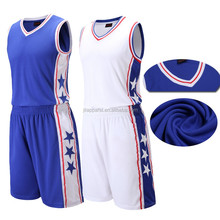 custom design cheap basketball jersey china sublimation reversible basketball uniform