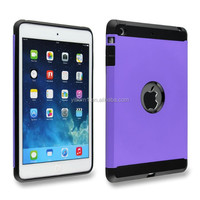 Multi colors Protective Hybrid tpu+pc Plastic Case for ipad mini