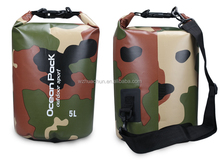 Cusomized Hot Sale Camouflage Floding Waterproof Dry Bag