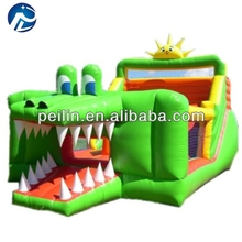 green dragon inflatable slide for kids