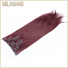 Wholesale Price Milan Hair 7A 8A Soft Smooth Top Quality 32 inch hair extensions clip in Unprocessed Virgin Hair