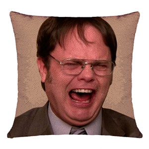Hot Sale Amazon Mermaid Throw Pillow Cover Dwight Schrute Magic Reversible Sequin Cushion Cover Decorative Pillowcase