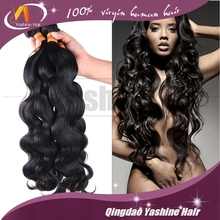 Unprocessed Brazilian/Indian/Malaysian/Cambodian/Peruvian Virgin Hair Natural Color Thick End 7A Grade Peruvian Body Wave Hair