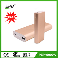 QC2.0 quick charging 9000mah/10200mAh portable mobile power bank for smart phone and ipad