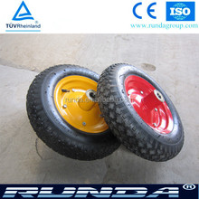 10,12,13, 14, 16, inch solid and pneumatic rubber wheel