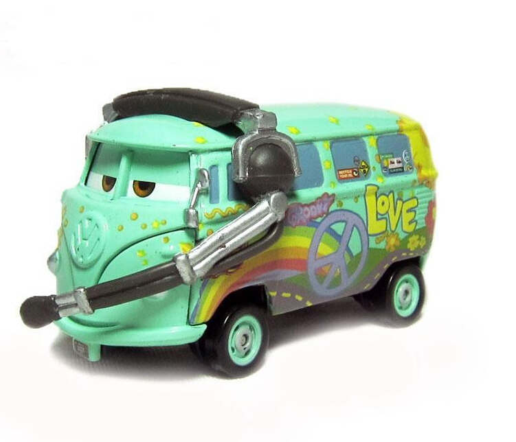 100% original--RACE TEAM FILLMORE WITH HEADSET Cars Pixar diecast figure TOY free shipping