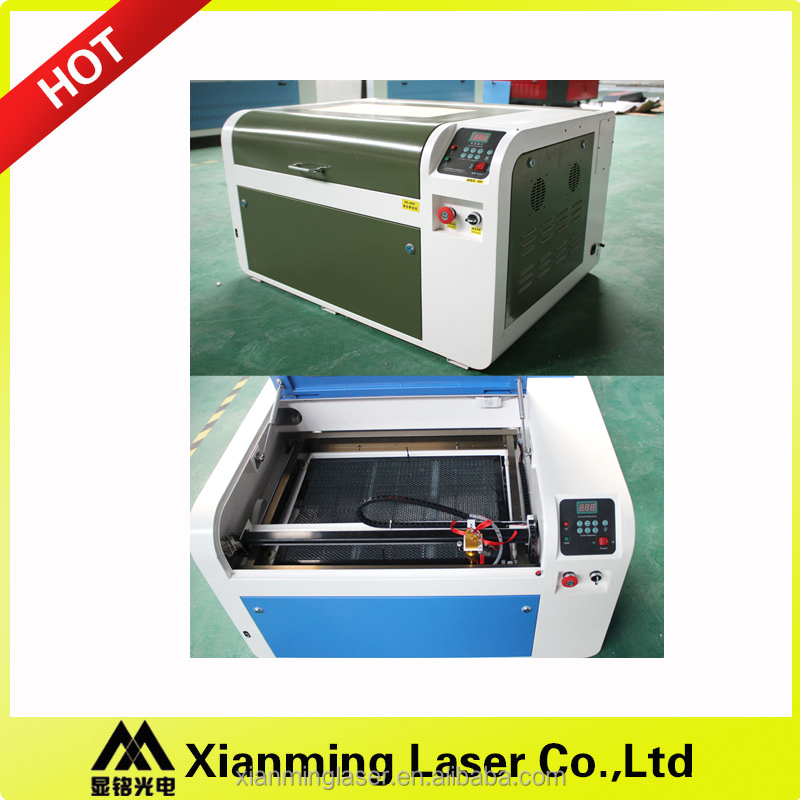 4060 50watts acrylic leather galss stone wood paper card mini laser engraving cutting machine OEM 400*600mm high quality