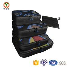 4 sets compression packing cubes travel organizers waterproof laundry bag