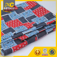 10 Oz Woven strong printed China Cotton Denim Fabric