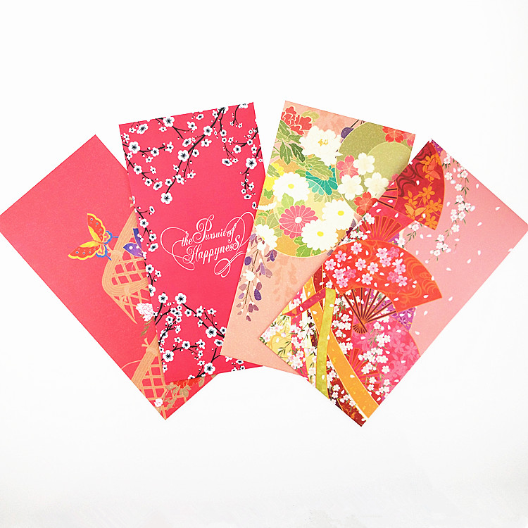 Red Packet Design Envelopes 2018 Custom Printing Pockets Envelope