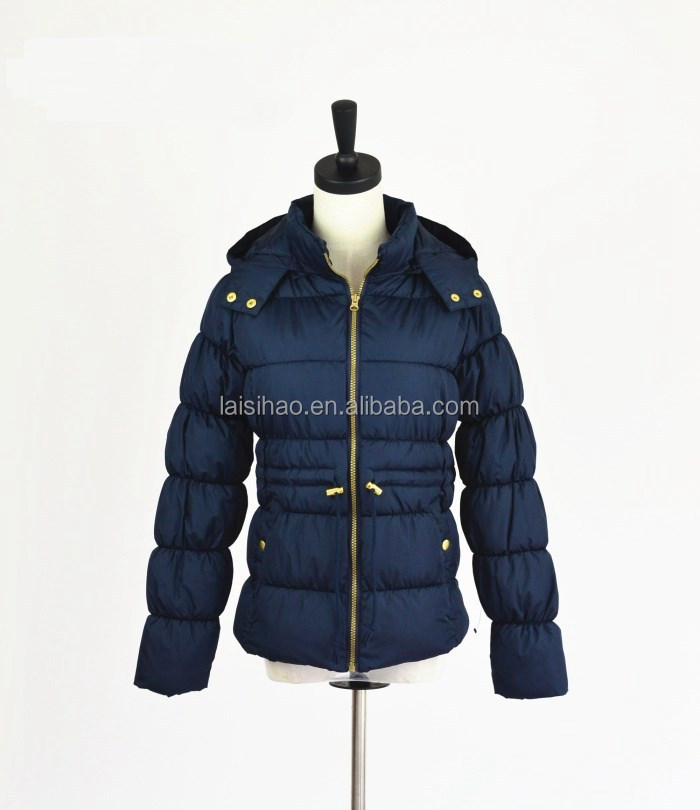 Outdoor sportwear children warm padded jackets with hoodies wholesale clothing