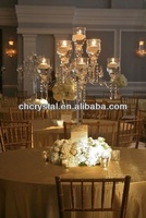 wedding table centerpieces crystal,9 arms floor stand crystal candelabra with hanging crystals MH-1552