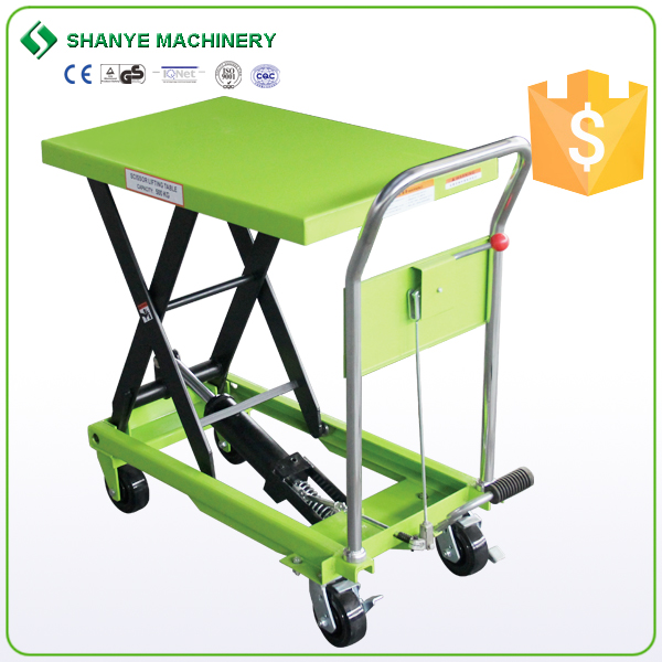 Top technology most competitive manual mobile table lift