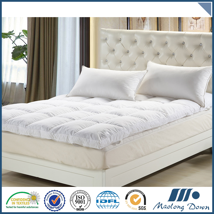Washed Duck Down And Feather Waterproof Mattress Pad