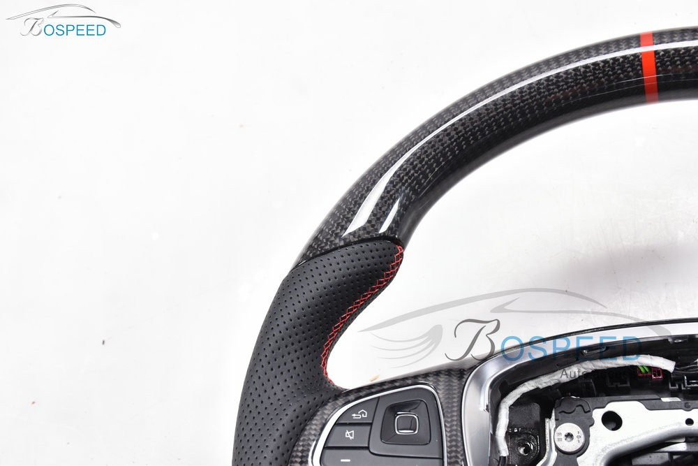 2017 most popularCarbon Fiber racing car steering wheel for Ben Z CLA