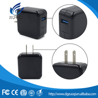 Quick charge portable 9V 2A wall USB charger with ABS EU material