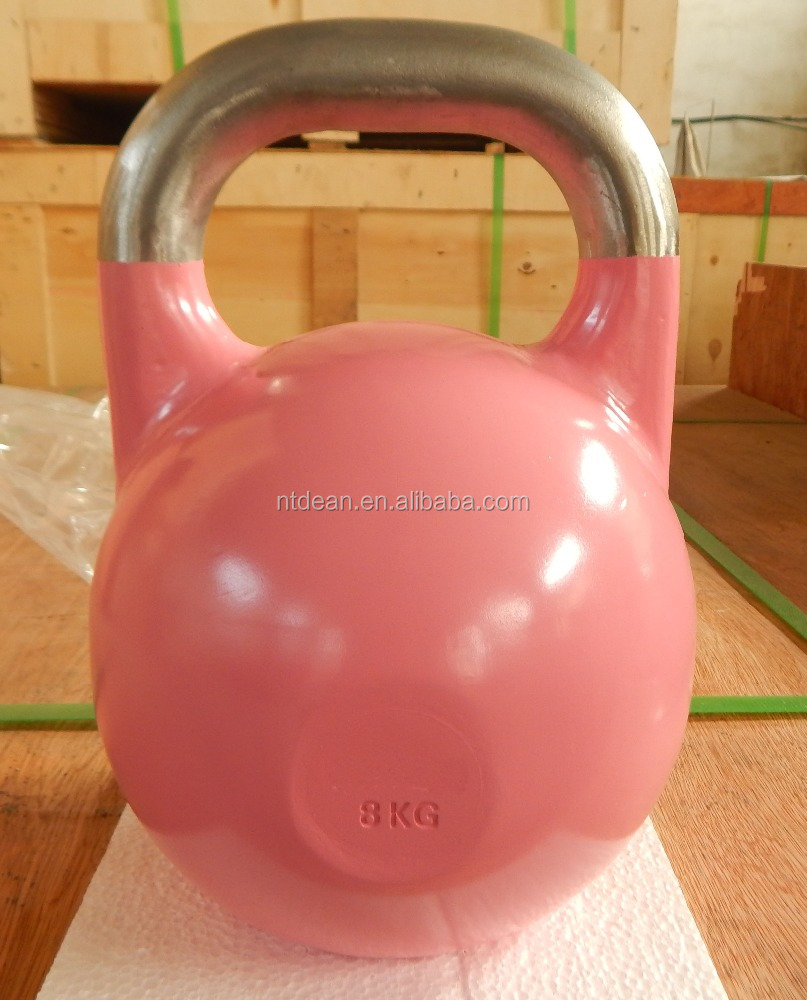 Stainless steel handle competition kettlebell