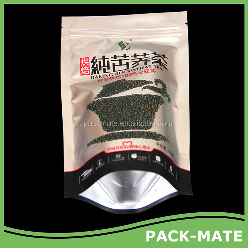 Aluminium Foil Or Metalized Stand Up Pouch/doypack For Tea Packaging/zipper Bags