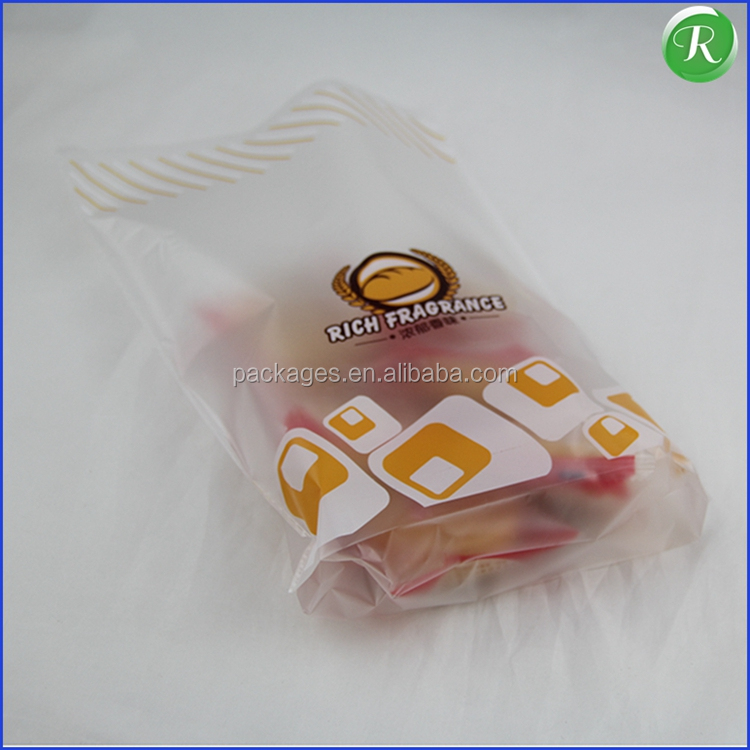 safe and healthy clear flat plastic cheese/bread packing bag