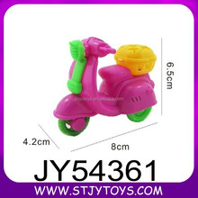 Promotional kids sweet toy pull back cartoon motorcycle candy toy