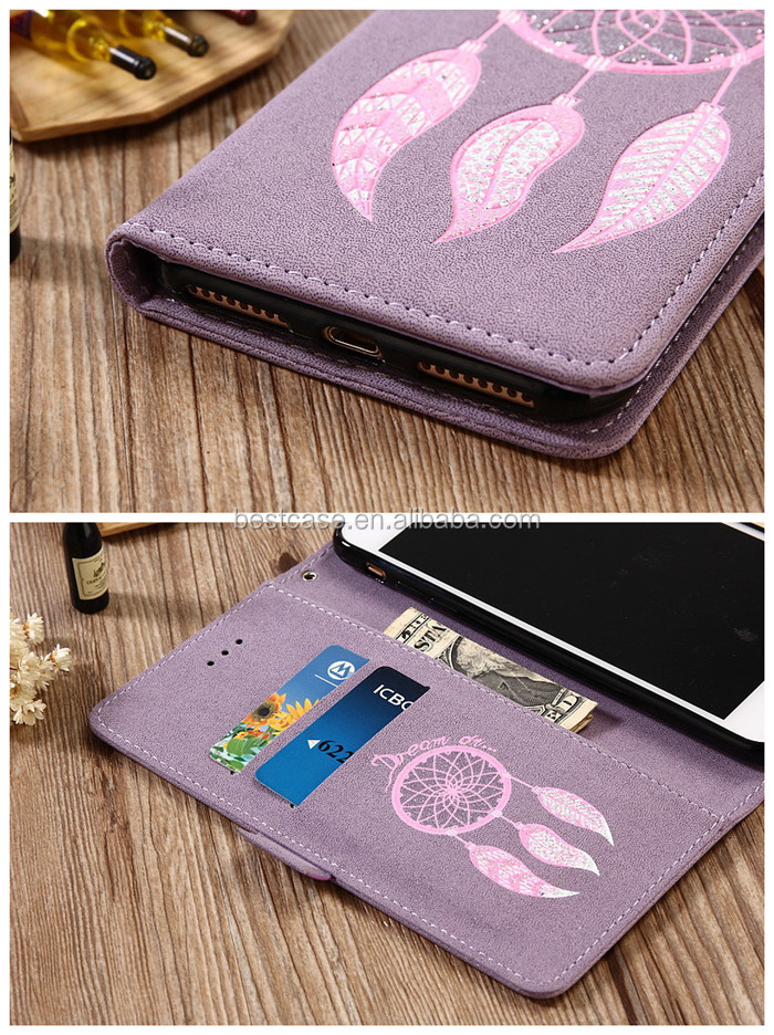 New Design Bling Diamond Leather Wallet Stand Customized Case Flip Cover for iPhone 8 8plus