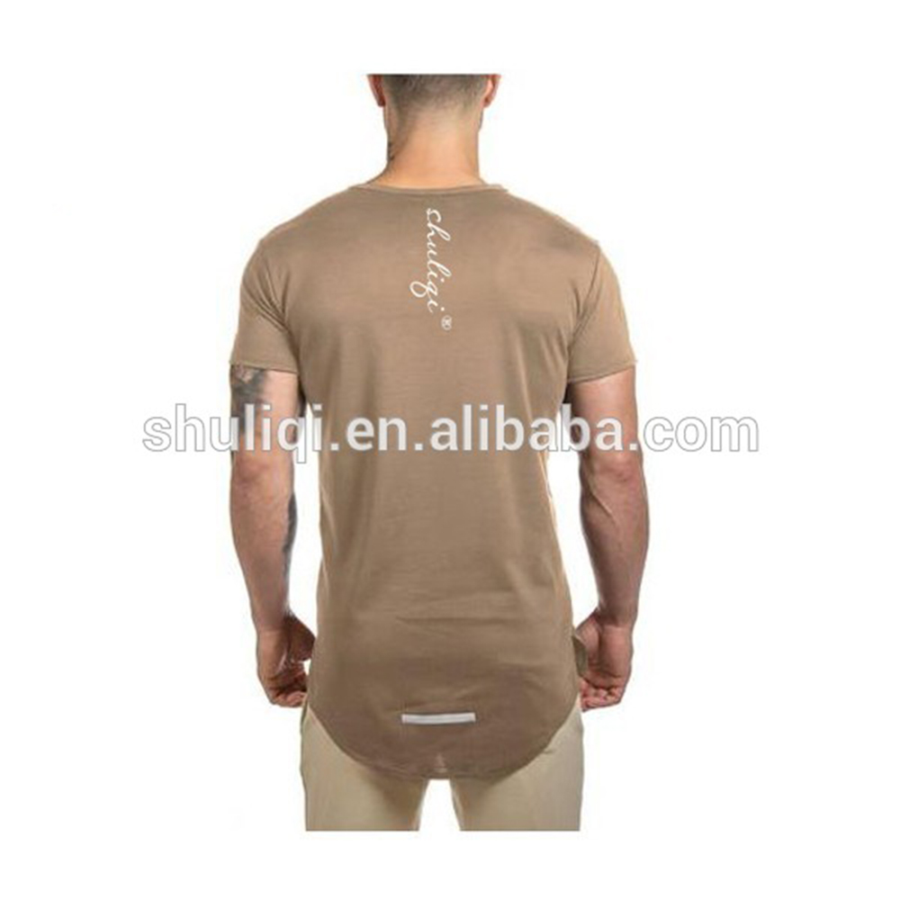 Dry Fit 95% Polyester 5% Spandex Lightweight Scoop Bottom Cut T Shirts Wholesale