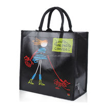 glossy laminated non woven pp tote bag