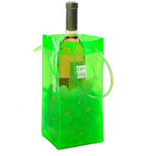 Beautiful and useful plastic cooler bag pvc wine ice bag