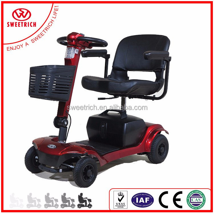 Portable electric four wheel scooter with CE