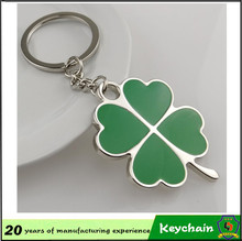 Four Leaf Clover key and lock metal key ring for couple and lovers laser name or logo (HH-key chain-907)
