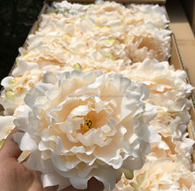 Artificial real touch silk peony heads flower