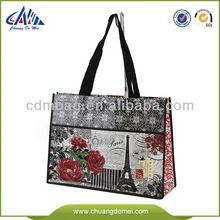 China High Quality Ideas For Decorating small wedding Gift Laminated PP NonWoven Shopping and Packing Shoulder Fabric Tote bags