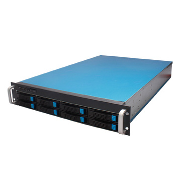 DAOHE 2U 8 Bays Rackmount Hotswaps Storage Chassis with 4*8038 Fans Server case