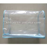 plastic pvc zipper blanket bag